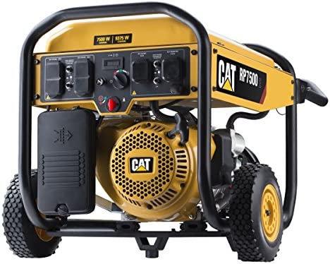 Cat RP7500E Gas Powered Portable Generator with Electric Start – 7500 Running Watts 9375 Starting Watts 490-6491