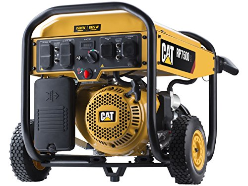 Cat RP7500E Gas Powered Portable Generator with Electric Start - 7500 Running Watts/9375 Starting Watts 490-6491