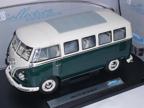 Welly Volkwagen Samba Bully T1 T 1 GrÜn Bus 1/18 Modellauto Modell Auto