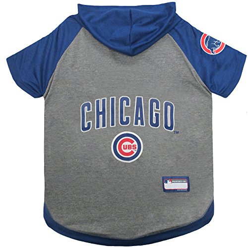 MLB PET APPAREL. - Licensed BASEBALL JERSEYS, T-SHIRTS, DUGOUT JACKETS, CAMO JERSEYS, HOODIE TEE's & PINK JERSEYS for DOGS & CATS, Chicago Cubs, Small Shirt for Pets ()