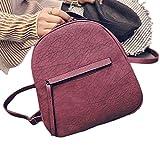 Outtop Unisex Mini Travel Backpack School Shoulder Bag (Red) For Sale