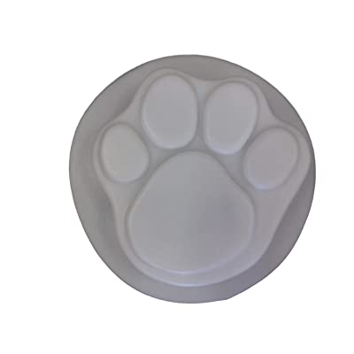 Dog Cat 13 Inch Paw Print Stepping Stone Concrete Plaster Mold 1030 : Outdoor Decorative Stones : Garden & Outdoor