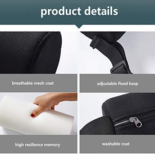 Lumbar Roll Support Pillow Slimline Cushion for Car Meomory Foam Automotive Protector Men Women Back Health Guys Massaging Block Best Orthopedic Portable Small Adjustable Lower Travel Round Pillow by NEPPT (Image #4)