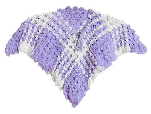 DollsofIndia Crocheted Woolen Poncho for 5 to 6 Years of Age (NU97) Mauve