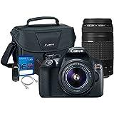Canon T6 DSLR Camera Body w/ Canon 18-55mm Lens + Canon EF 75-300mm
