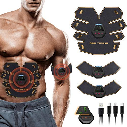 UMATE Abs Stimulator Muscle Toner, Portable Muscle Trainer,Abdominal Trainer,Abdominal Muscle Toner Fitness Training Gear with LCD Display for Men/Women 1