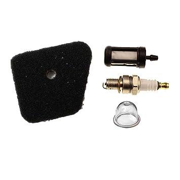 Aisen aire filtro de combustible con Bujía Para Stihl FS90 FS100 FS110 FS130 String Trimmer: Amazon.es: Jardín