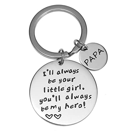 Etched Stainless Steel Keychain