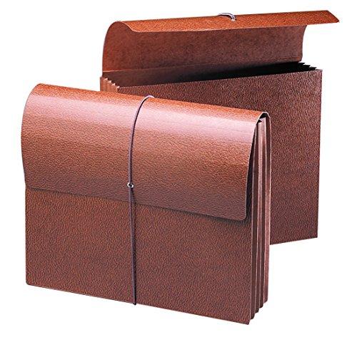 Smead Expanding portafolios, 3–1/2', de expansión con solapa y cierre de cordón, Redrope Fuelle, tamaño carta,...