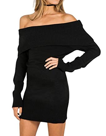 Amazon.com: FORTULY Womens Sexy Off Shoulder Long Sleeve Mini ...