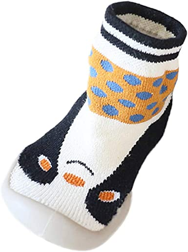 Cotton Floor Socks Toddler Baby Girls Boys Cartoon Animals Anti-Slip Knitted Warm Socks