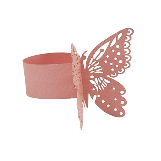 Homyl 50 X Schmetterling Papier Serviettenring Fur Hochzeit Taufe