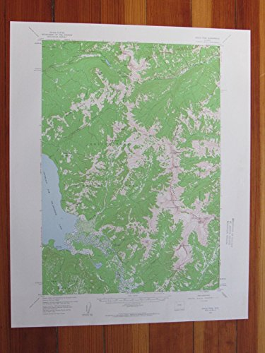 Eagle Peak Wyoming 1960 Original Vintage USGS Topo Map