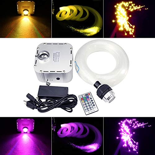 32W Twinkle Remote RGB 4-Speed LED Fiber Optic Star Ceiling Kit Light + Crystal 16.4ft/5m Long 0.03in/0.75mm 1000pcs by Shine (Image #2)