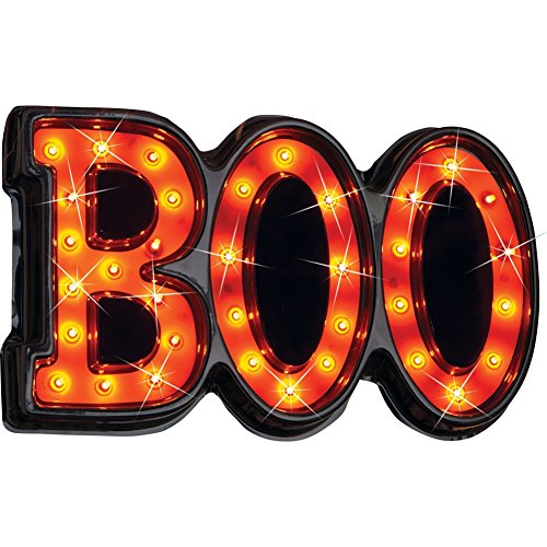Lighted Halloween Boo Sign