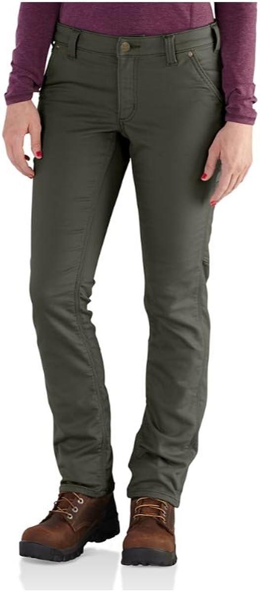 Carhartt Womens Womens Slim Fit Parker Knit Dungaree Pants