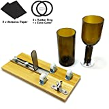 ADVcer Wine Glass Bottle Cutter Machine - Adjustable Wood Base Bottle Cutting Tool, Best DIY Kit for Wine Beer Soda Water Bottles Candle Lamp, Creative Vase, Decorative Craft (+ 1 Extra Diamond Blade)