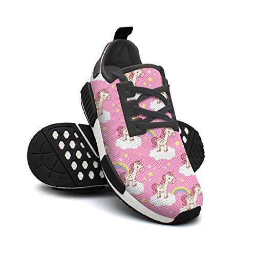 Rainbow Mesh Pink Sneakers Womens Unicorn Heart Cute Breathable Sneakers Designer FAAERD Nana Star Fashion Lightweight YSqwxgRwa