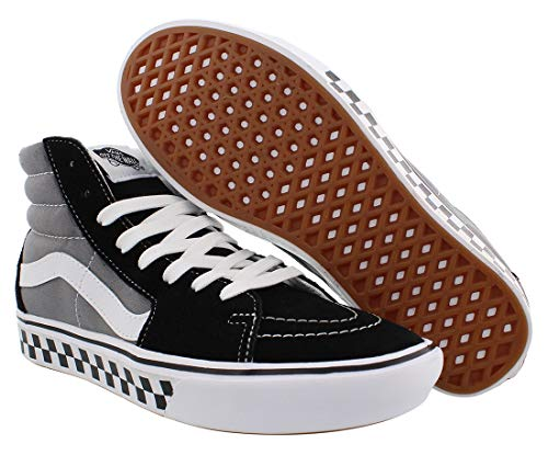 Vans Unisex Sk8-Hi Comfycush Distort Black/TrueWhite Skate Shoe