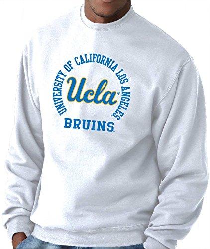 Fleece Crewneck Adult Sweatshirt (Campus Colors UCLA Bruins Adult NCAA Team Spirit Crewneck Sweatshirt - White, Large)