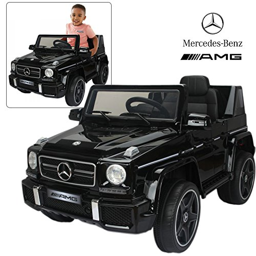 Official Licensed Mercedes Benz Ride On Car with Remote Control for Kids | 12V Power Battery AMG G63 Kid Car to Drive with 2.4G Radio Parental Control Black