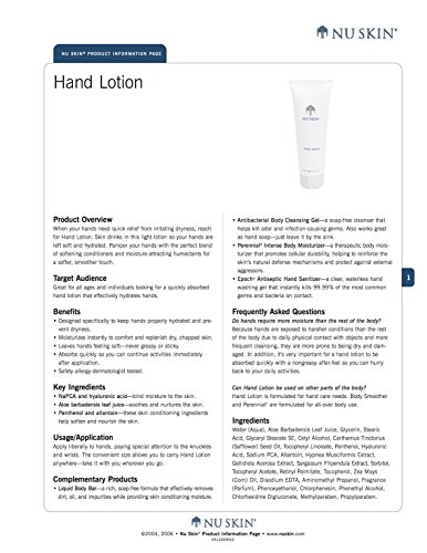 Nu Skin Hand Lotion