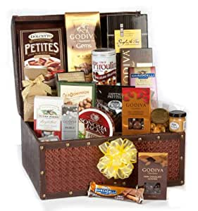 Grand Chocolate Fantasy Luxury Gift Basket - Loaded with Godiva and More