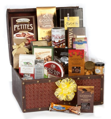 Grand Chocolate Fantasy Luxury Gift Basket - Loaded with Godiva and More by WOW Gift Boxes