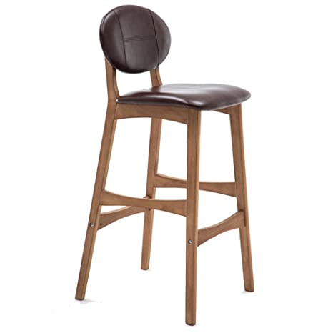Surprising Amazon Com Bar Stool Lzpq Solid Wood With Backrest Counter Machost Co Dining Chair Design Ideas Machostcouk