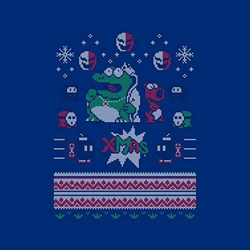 Koopa Koopa Koopa White Christmas Royal Royal Royal Royal Super Varsity Jacket Knit King Mario Brothers Men's Pattern qSqaPt
