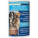Osteo-Pet Liquid Glucosamine for Dogs 32 oz, with Chondroitin, MSM, Hyaluronic Acid and Omega 3 Fatty Acids | Bacon Flavored | The Best, Natural Formula for Hip and Joint Canine Arthritis Pain Relief.