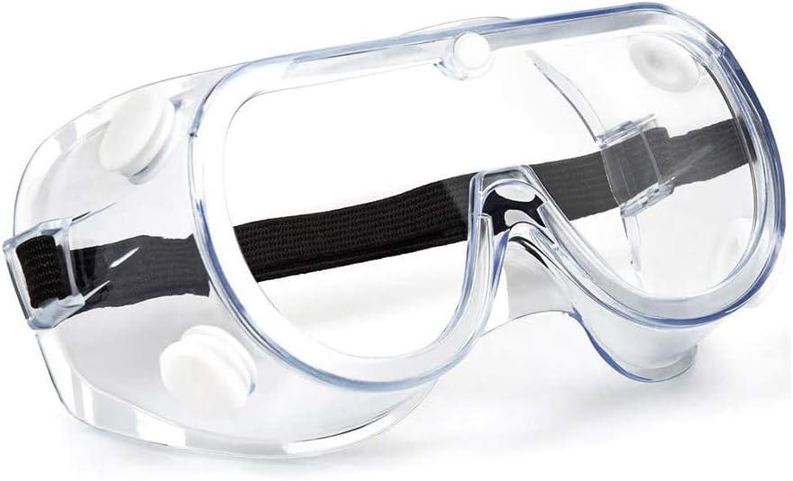 ZCXG Gafas de Protección,Transparentes Gafas Antivaho Anti-sellado Gafas de Protección Laboratorio Gafas Protectoras Arañazos Antiniebla para Ciclismo,DIY,Trabajo