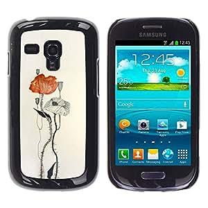 TopCaseStore / la caja del caucho duro de la cubierta de protección de la piel - Paper Watercolor Art - Samsung Galaxy S3 MINI NOT REGULAR! I8190 I8190N