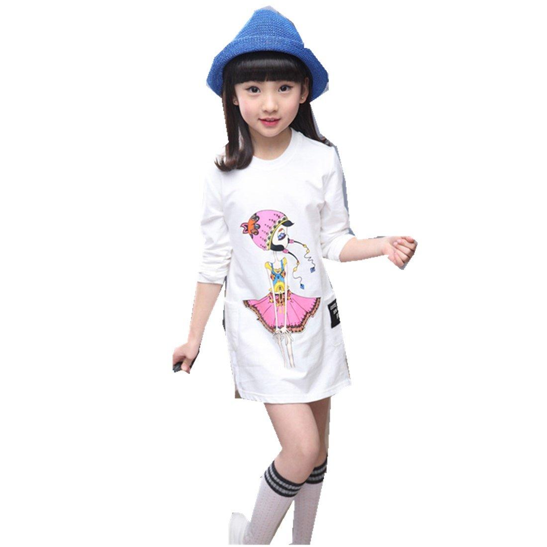 MV New Girls Spring Children's Long-Sleeved Shirt Underwear Clothing Korean T-Shirt