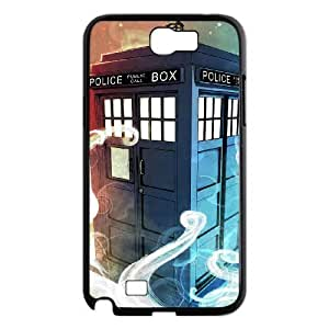 C-EUR Diy Phone Case Doctor Who TARDIS Police Call Box Pattern Hard Case For Samsung Galaxy Note 2 N7100