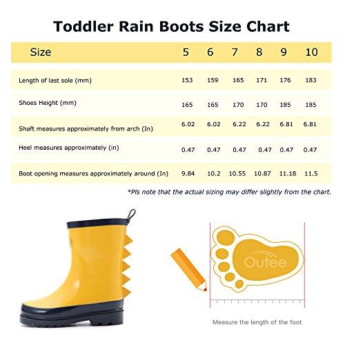 Pictures of Toddler Boys Shark Fin Fun Yellow Rain CBLR17AYEL7US 3