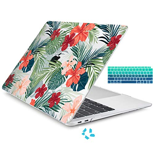 c5fffcebd3cb Batianda Painted Case for New MacBook Air 13 inch 2018 2019 Release Model  A1932 with Touch ID Retina Display Crystal Hard Laptop Shell with Keyboard  ...