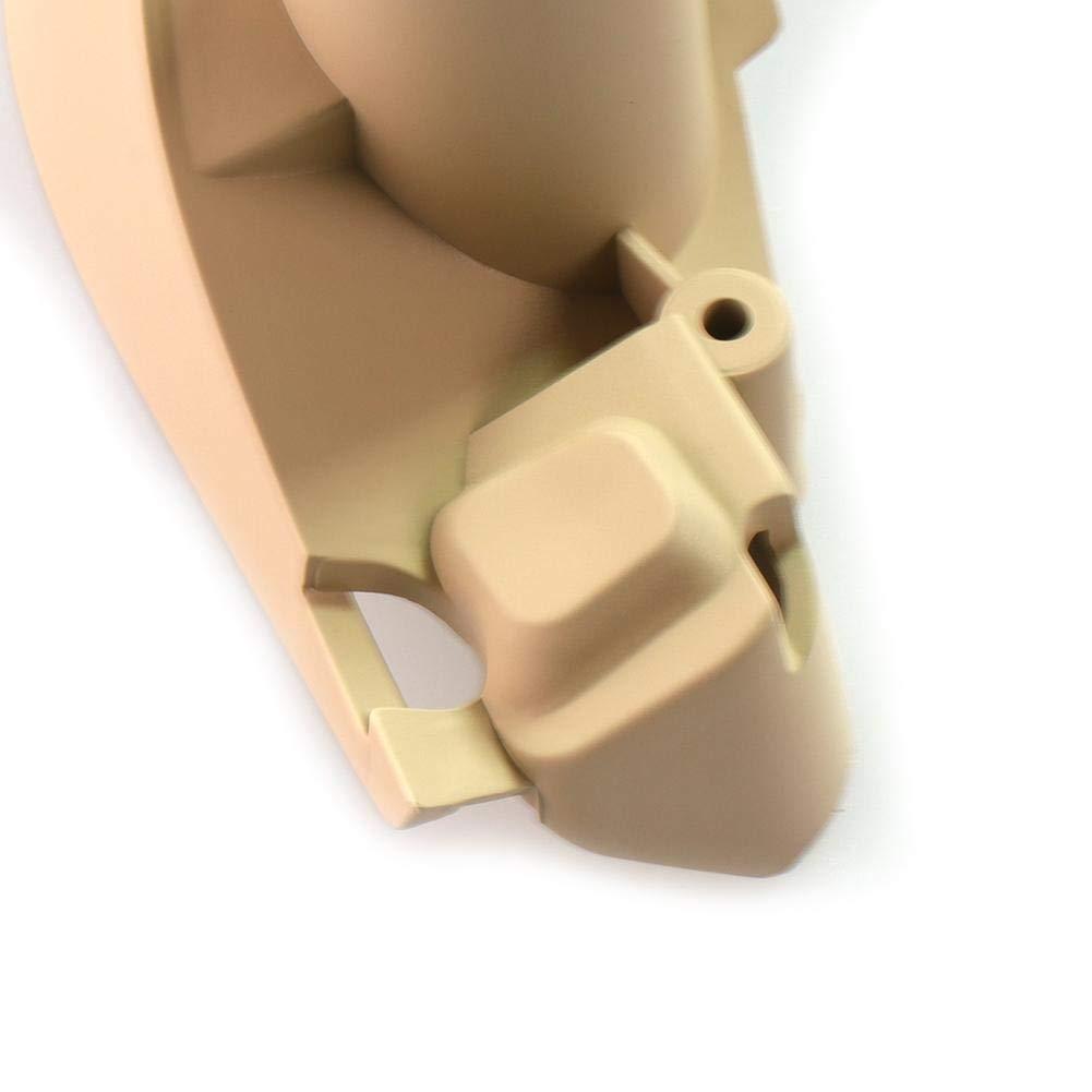 Poign/ées de Porti/ères Int/érieures Poignet de Porte de Voiture Tirer la Couverture de Garniture Tuankayuk pour X3 F25 X4 F26 11-17 Noir, Droit