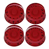 BQLZR Red Speed Type Control Knob for Electric Guitar Pack of 4