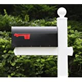 The Washington Vinyl / PVC Mailbox Post - White (Includes Mailbox)