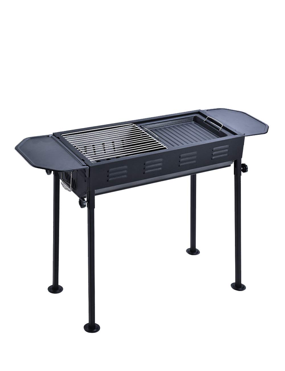 Charcoal Grill, Full Field Tool Holder, Portable, Suitable for Family Friends, Outdoor Activities Party Garden Mountaineering Wild Park Jungle - Black