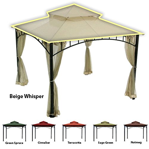 OPEN BOX Replacement Canopy Top Cover for Target's Madaga Gazebo – RipLock 350 Beige Review