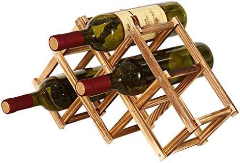 Reuvv Houten Wijnrek 3610 Fles Houder Opvouwbare Wijnplanken Creatieve Gratis Staande Rustiek Hout Wijnfles Houder Vouwen Wijnrek Organizer Display Plank
