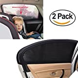 Tinpec Car Side Window Sun Shade,Universal Car Curtains Baby sun shade Premium Breathable Mesh Sun Shield protect Your Kids and Pets in the Sun ,fits All (99%) Cars! Most SUVs!(2 Packs, XL)