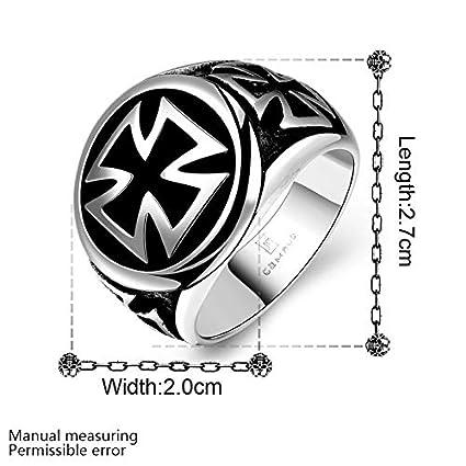 Amazon.com: Nattaphol Hombre Punk anillo de Acero inoxidable ...