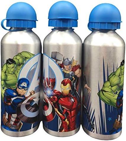 Una Botella de Agua de Aluminio avengin para ni/ños y ni/ñas cantimplora t/érmica a Prueba de Fugas sin BPA el Termo//500ml Gris