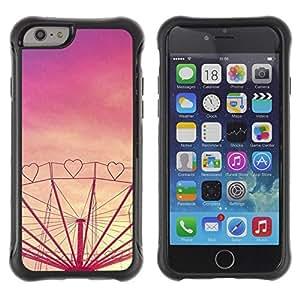 Suave TPU GEL Carcasa Funda Silicona Blando Estuche Caso de protección (para) Apple Iphone 6 / CECELL Phone case / / heart love purple sunset fair amusement /