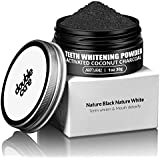 DoubleCare Activated Charcoal Teeth Whitening Powder-Coconut Charcoal Tooth Whitener-Natural Teeth Whitening-Enamel Safe & Improve Gum Health-Organic(3-month supply)
