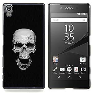 Vampire Skull - Goth Caja protectora de pl¨¢stico duro Dise?ado King Case For Sony Xperia Z5 5.2 Inch Smartphone