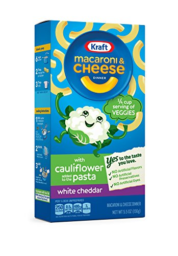 Kraft Macaroni & Cheese Cauliflower, White Cheddar, 5.5 Ounce (Pack of 12)